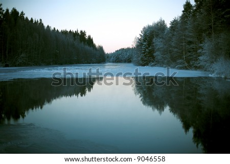 tranquil winter landscape