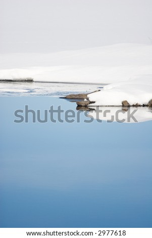 Tranquil winter scene. Waterfront. - stock photo