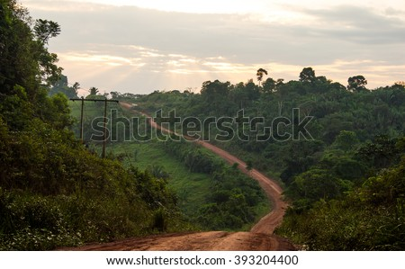 Trans-Amazonian Highway in Brazil - stock photo