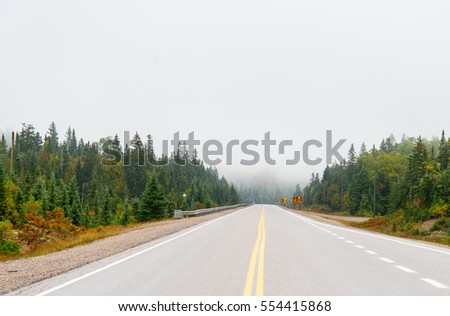Trans Canada Highway in northern Ontario