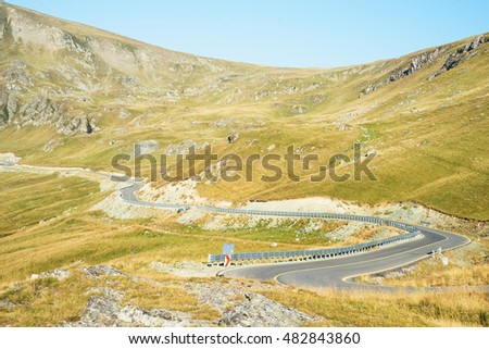 Transalpina mountain road in the morning