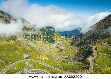 Transfagarasan world's best road - stock photo