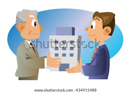 Transfer business - stock photo