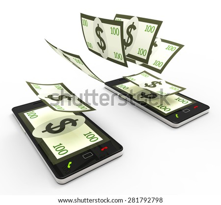 Transfer Dollars Online Meaning World Wide Web And Website - stock photo