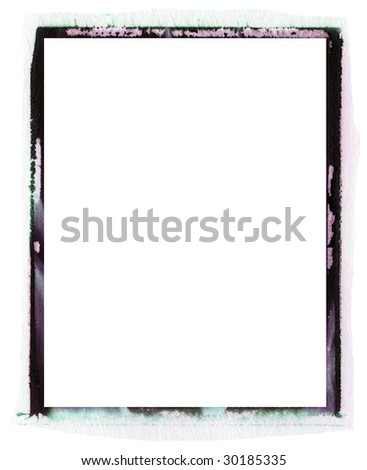 transfer emulsion photo texture border - stock photo