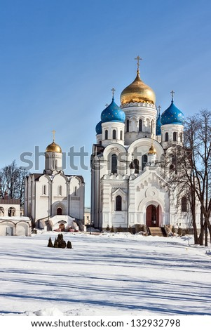 Transfiguration Cathedral. Nikolo-Ugreshsky Monastery  is Russian Orthodox monastery of St. Nicholas the Miracle-Worker located in a suburb of Moscow
