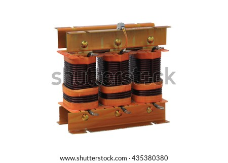 Transformer is a static electrical device for transformation of voltage - stock photo