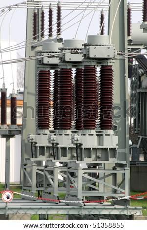 transformer station - stock photo