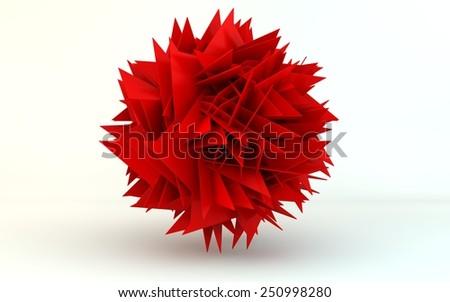 transforming sphere - stock photo