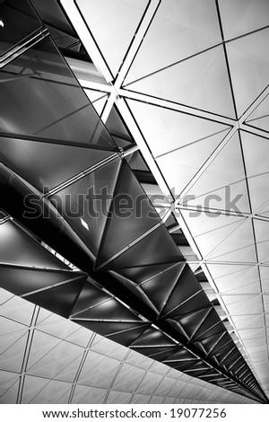 Transit terminal of Hong Kong International Airport - stock photo