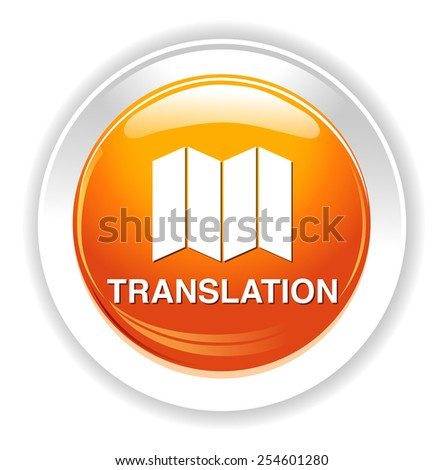 Translate button  - stock photo