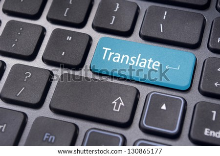 translate button on computer keyboard, translation of languages.
