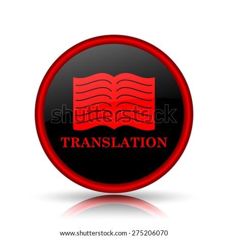 translation icon. Internet button on white background.  - stock photo