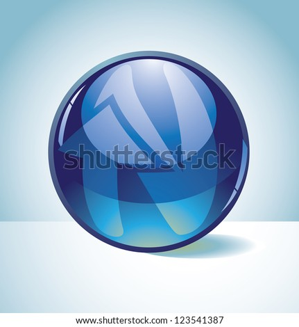 Translucent Spherical Alphabet Icon Symbol Letter N