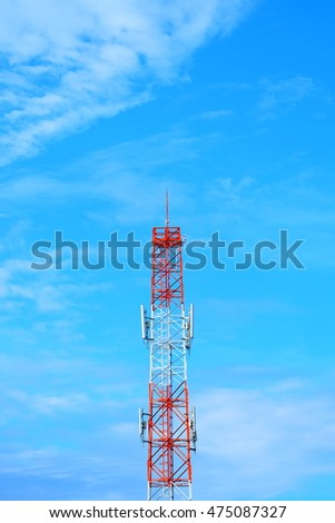Transmission antenna on an almost clear sky
