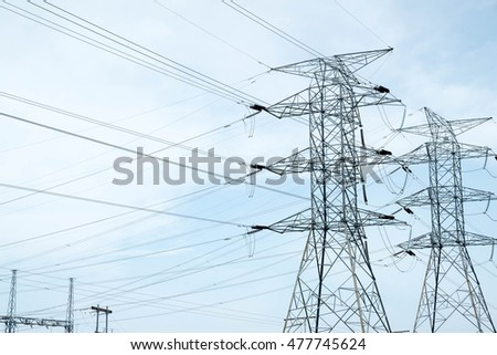 Transmission Electric Power Lines Tower Pylon