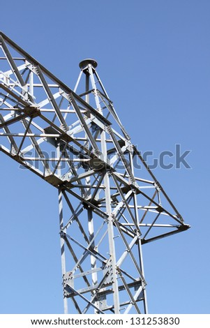 Transmission Line Tower before Installation cable