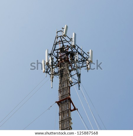 Transmission towers for network communication