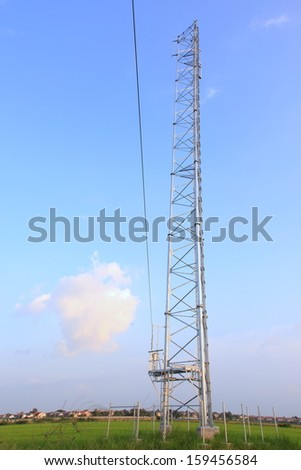 Transmitter antennas installed on the mobile device. - stock photo