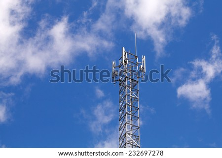 Transmitter tower  - stock photo