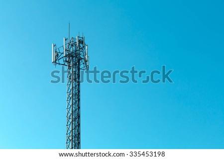 Transmitter tower - stock photo