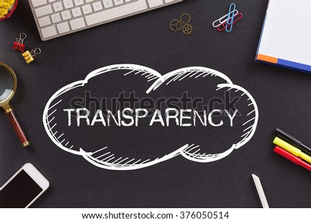 TRANSPARENCY written on Chalkboard - stock photo