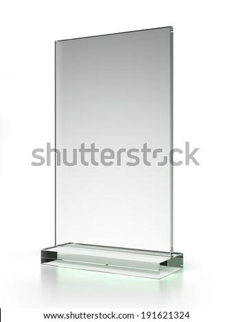 transparent ad plate - stock photo