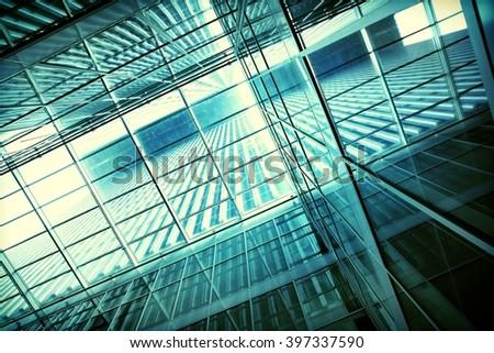 transparent building structure  - stock photo