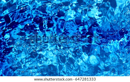Transparent clear water background