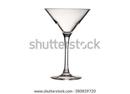 transparent cocktail goblet - stock photo