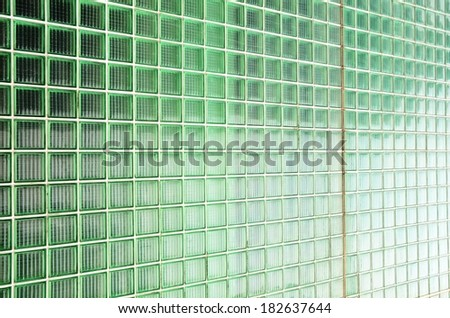 Transparent glass wall  - stock photo