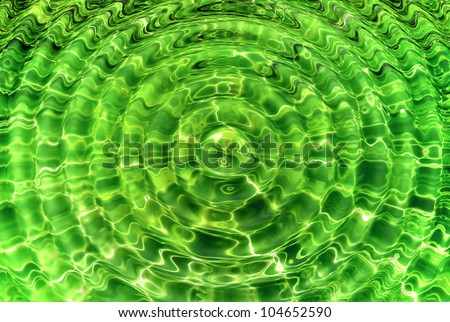 Transparent green water ripple like background - stock photo