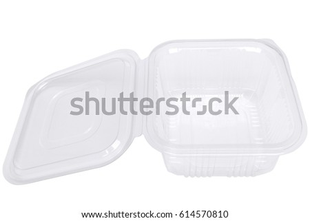 Transparent Plastic Food Container Catering Food Stock Photo