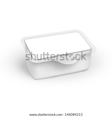 transparent plastic packaging in the form of boxing