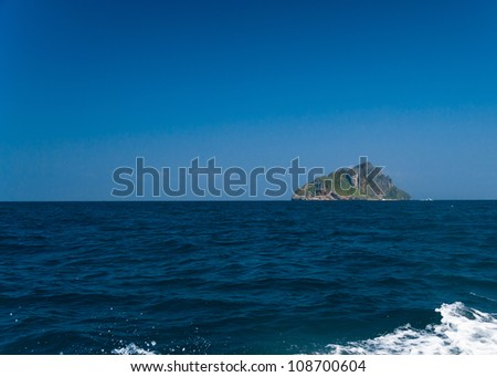 Transparent Waters Blue Atoll - stock photo