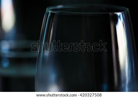 Transparent wine glass - stock photo