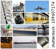 transport collage - stock photo
