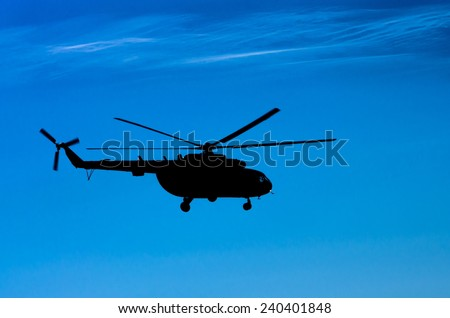 Transport helicopter Mi-8 - stock photo