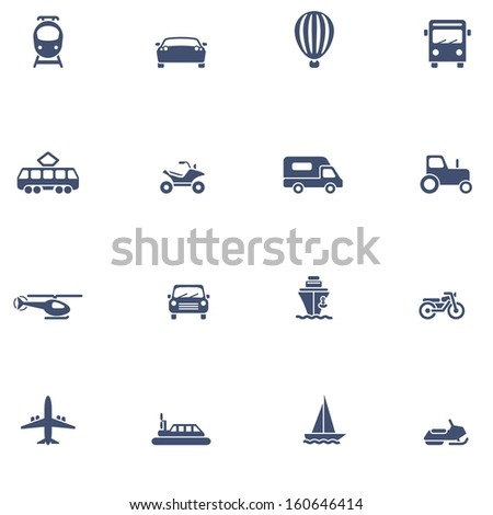 Transport icons - stock photo