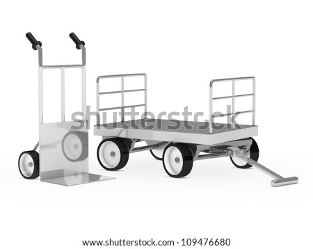 transport package chrome hand truck and trolley