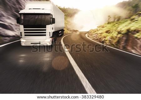 Transport road - stock photo