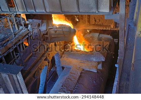 transport the molten metal inside of plant
