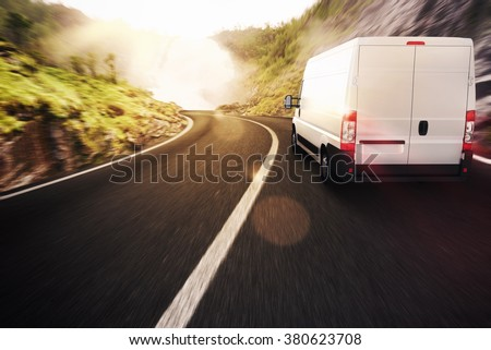 Transport truck - stock photo