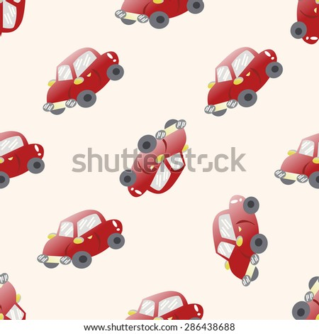 transportation car , cartoon seamless pattern background - stock photo
