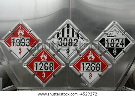 Transportation Placards - stock photo
