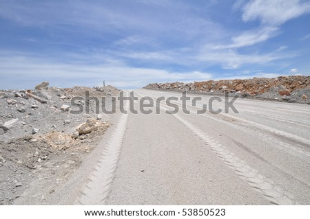 Transportation road in Quarry