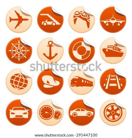 Transportation stickers - stock photo