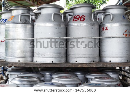 Transports Raw milk to the embodiment cooperatives in Thailand - stock photo