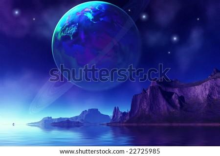 TRANTA 3 - An beautiful alien world. - stock photo