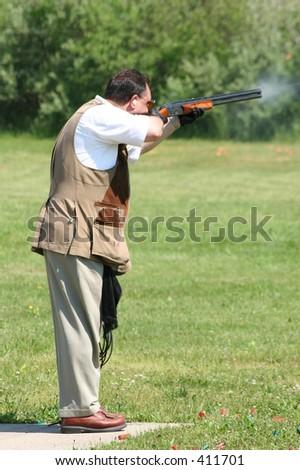Trap Shooter - stock photo